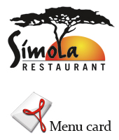 Current menu card Simola